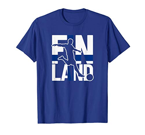 Finnland Fußballfans Trikot | Suomi Fans Finnischer Fußball T-Shirt