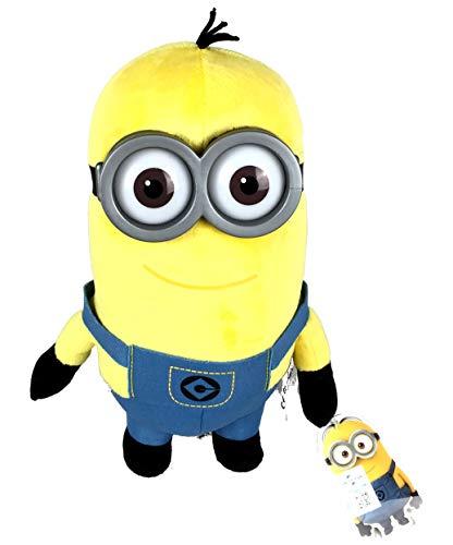 Minion Plüschfigur Kevin mit Kunststoff Augen und Brille, ca. 25cm (Kevin)