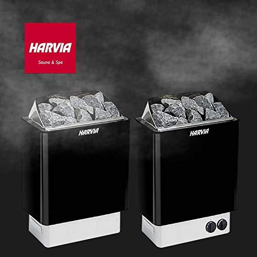 Harvia Saunaöfen Kip Schwarz - 8.0 kW, Steuereinheit: Benötigt seperaten Steuergerät