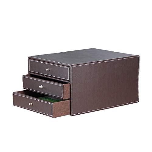 Ordner-Ablagesysteme HongLianRiven Aktenschrank aus Leder von Cortex Aktenschrank aus Leder von Business Desk (Color : A)