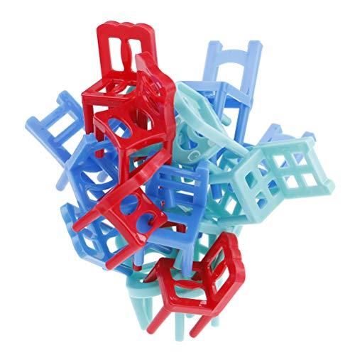 7thLake 18 Stücke Bunte Balance stapelstühle Spiel Stühle Kunststoff Balance Spielzeug Stapelstühle für Kinder Bildung Spiel Spiel Spielzeug