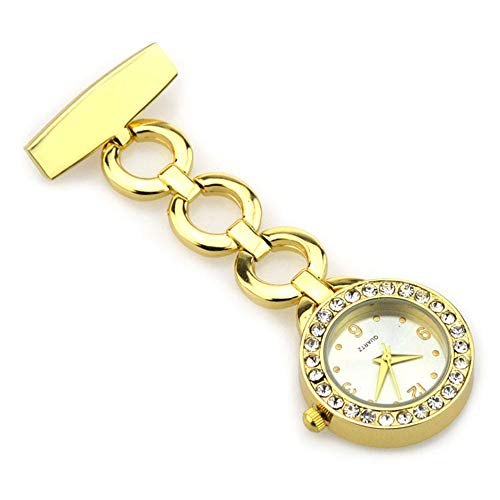 Reloj colgante enfermera Nurse Lapel Pin Watch Nurse Doctor Abrigo largo Broche...