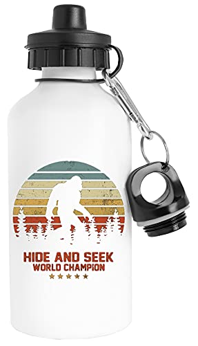 Hide And Seek World Champion Bigfoot Bottiglia d'acqua Acciaio Inossidabile Viaggiatore Bianca Water Bottle Stainless Steel Traveller White