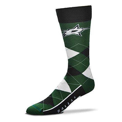 For Bare Feet Herren NHL Argyle-Line-up Crew Dress Socken - Einheitsgröße passend für die meisten, Herren, Dallas Stars, Einheitsgröße