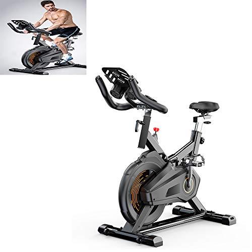 MLQ Bicicleta estática Inteligente para Interiores, Bicicleta estacionaria silenciosa para el hogar,...