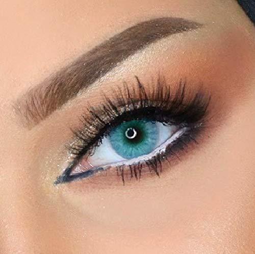Farbige Kontaktlinsen ELFENWALD die schönsten natürlichen Farblinsen für umwerfend verführerische Augen - ohne Stärke - mit Aufbewahrungsbehälter (Topas)