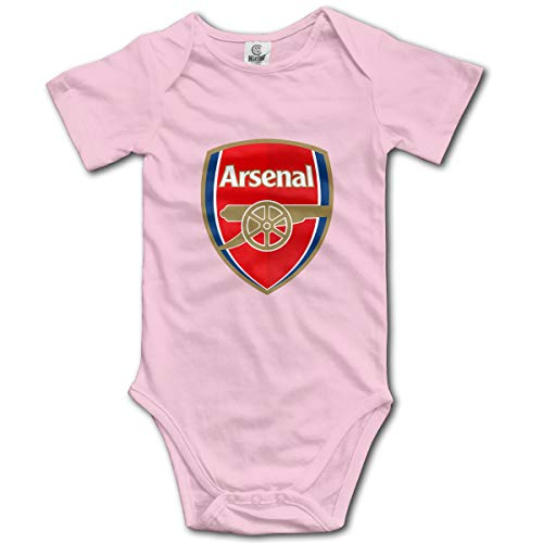 Arsenal Soccer Comfortable and Easy to Change Cute Baby Crawl Suit Pink6-6M