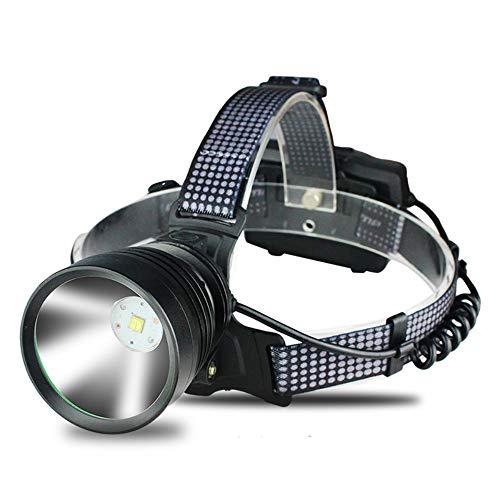 SADSA Lampe Frontale 7 Core LED Phare Intégré De Refroidissement Fun Zoom Phare Puissance Banque Tête Lampe Lampe de Poche Torche 3 * 18650 Batterie