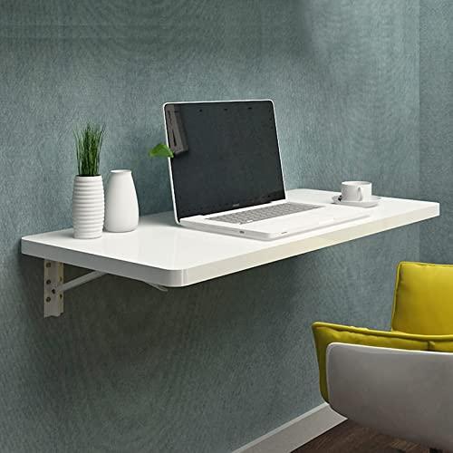Escritorio pared blanco Mesa plegable Estación trabajo para computadora Cocina flotante Mesa comedor Ahorro espacio Oficina en casa Dormitorio Colgante Mesa plegable hoja abatible, Compacto moderno