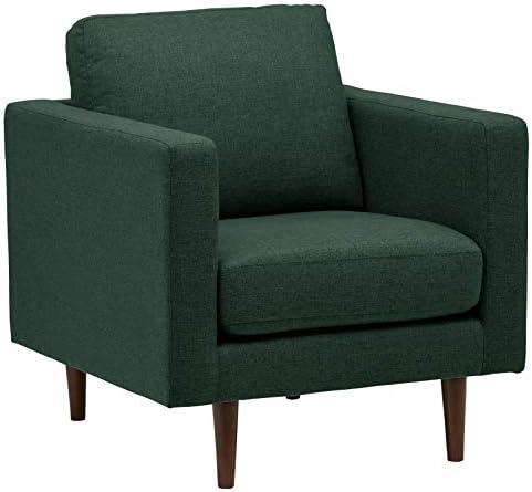 Best Amazon Brand – Rivet Revolve Modern Upholstered Armchair with Tapered Legs, 33