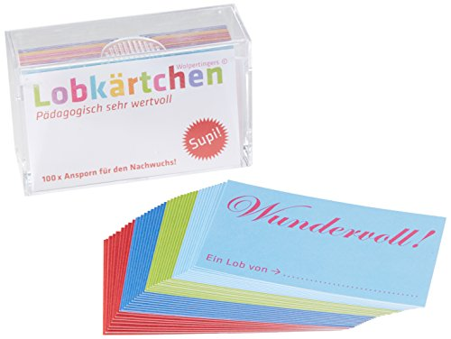 Lobkärtchen Kinder / 100 Papierkärtchen: Pädagogisch sehr wertvoll