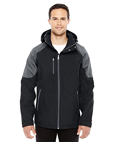 Ash City Impulse Interactive Seam-Sealed Shell Jacket (88808) -BLCK/CARBO -XL