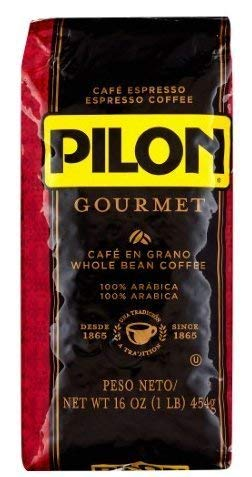 Pilon Gourmet Whole Bean Restaurant Blend Espresso Coffee, 16 Ounce