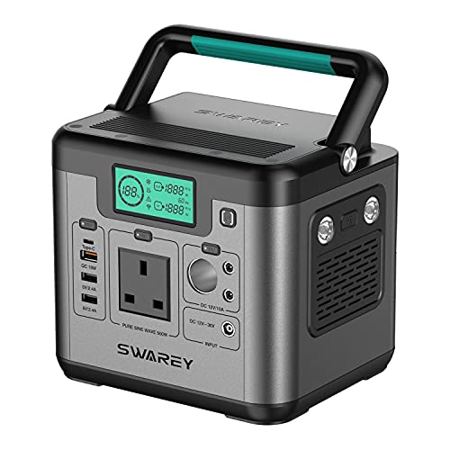 SWAREY Portable Power Station S500 518Wh 230V/500W Pure Sine...