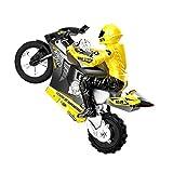 JYXMY Calle eléctrico RC Racer Bike Top Race 4 canal RC de control remoto de la moto va sobre 2 ruedas con construido en el giroscopio, 1: 8 Escala de carga USB a control remoto modelo de la motocicle