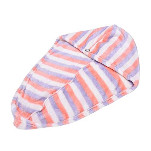 LWHOL Toallas de baño Baño 25x62 cm Lady'S Magic Seco Peluquería Seco Quick Seco Toalla de Pelo Encantador Secado Baño Toalla Soft Head Wrap Sombrero Maquillaje Cosméticos Toallas de Pelo Suave