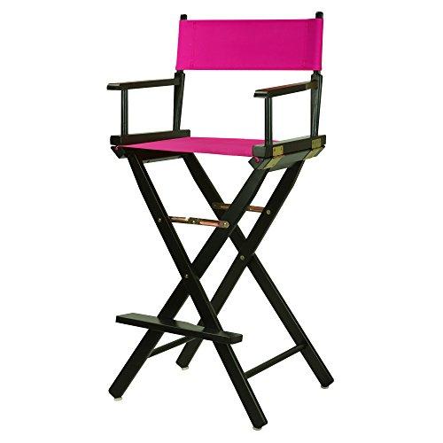 Casual Home 230-02/021-30 Director Chair 30' - Bar Height BlackFrame/Magenta Canvas