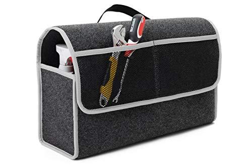 EJP Für Grandland X Kofferraumtasche Organizer Werkzeugtasche Autotasche Tragfähigkeit bis 20 kg in höchster Qualität. Farbe Grau mit grauen Lamellen. Versand ab Sofort.