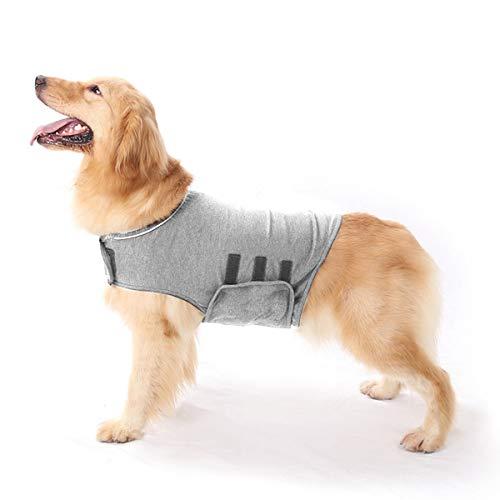Ponacat Hundeangstjacke Beruhigender Mantel Donner Hundewickel für Angst Stress Linderung