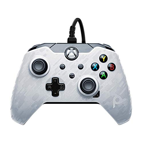 PDP Gaming Wired Controller: Ghost White - Xbox Series X S, Xbox One, PC - Summer 2021 Model