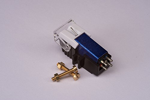 Cartridge and Stylus, needle with mounting bolts for Pioneer PL4, PL445, PL5, PL6, PL707, PL740, PL750, PLL1000, PL600, PL620, PL640, PL7