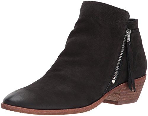 Sam Edelman Women's Packer Ankle Boot, Black Leather, 8 Medium US