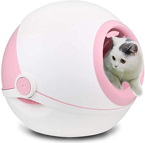 ZouYongKang Caja de Arena de Gato de autolimpieza Cable Cable Cable Total Cubierta DE Cubierta DISEÑO 3 Segundos para PEDERA A Landa Espacio, Adecuado para Cats Peso Menos DE 20 KG (Color : Pink)