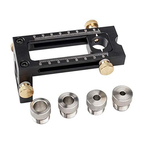 QPLKL Zimmerarbeiten 2 in 1 Drill Puncher Stellungs Locator Jig Kreuz Oblique Flachkopf Puncher Cabinet Schraube for Krippe Bett (Color : 1 Set)