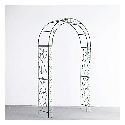 HLMBQ 7.2FT Garden or Wedding Arch Arbor for Wedding Bridal Party Elegant Decorations Climbing Plants Vines,Metal Outdoor & Indoor Rose Archway,Green