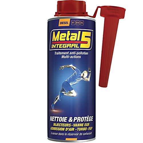 Métal 5 - Intégral Anti Pollution Diesel - 500ml - Facilite le Passage du Contrôle Technique - Nettoie les Injecteurs/Vanne EGR/Admission d'Air/Turbo/FAP