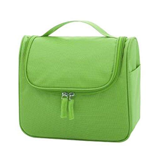 Portable sacs de maquillage de grande capacité sac cosmétique boîte de maquillage, Vert