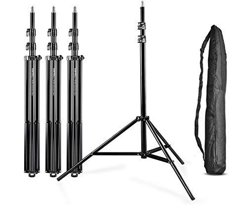Walimex Pro WT-806 Lampenstativ 4er Set (max. Höhe 256 cm und Federdämpfung, inkl. 4 Transporttaschen)