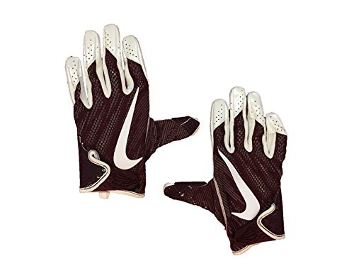 Nike Men`s Vapor Knit Skill Football Gloves with Magnigrip Technology (Maroon(PGF543-688)/White, X-Large)