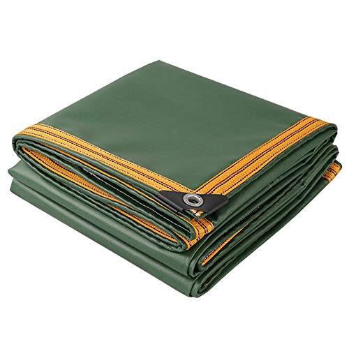 LXLA- Bâche verte avec bordure renforcée, Bâches résistantes aux déchirures, Toile de jute imperméable à 100% - 650g/m² (taille : 3m x 5m)