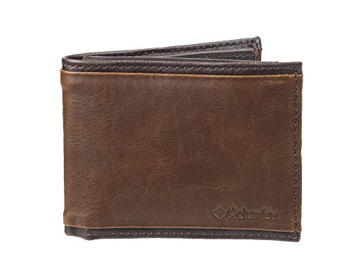 Columbia Men's RFID Passcase Wallet, Brown Deschutes, One Size