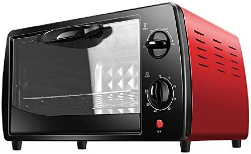 Convection Elektrische Oven Mini Electric Oven 9 liter 620W huis Baking Box, 60 Minutes Timing/breedband nauwkeurige temperatuurregeling, Red, Red 8bayfa (Color : Red)
