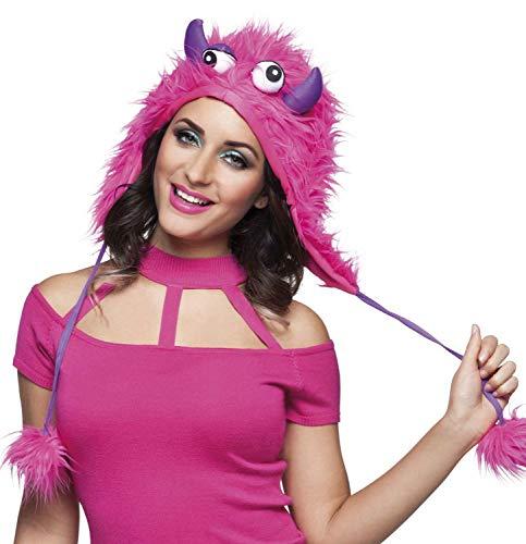 Boland 81029 - Hut Sweet Monster, Pink-Lila, Unisex, Mütze aus Plüsch, Kleines Monster, Kostüm, Karneval, Mottoparty