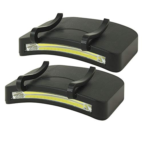 LitezAll 400 Lumen COB LED Clip On Cap Light 2 Pack - 4 AAA batteries included