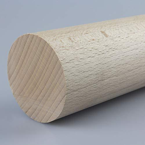 Preisvergleich Produktbild Rundstab Bastelstab Bastelleiste Holzstab aus Buche-Massivholz Ø 60 mm 1000 mm