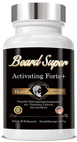 Bart Wachstums Mittel Beard Super Activating Forte+ 90 Cellulosekapseln