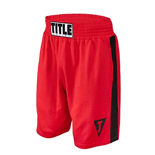 Title Boxing Sweat Shorts, Red/Black, XX-Large