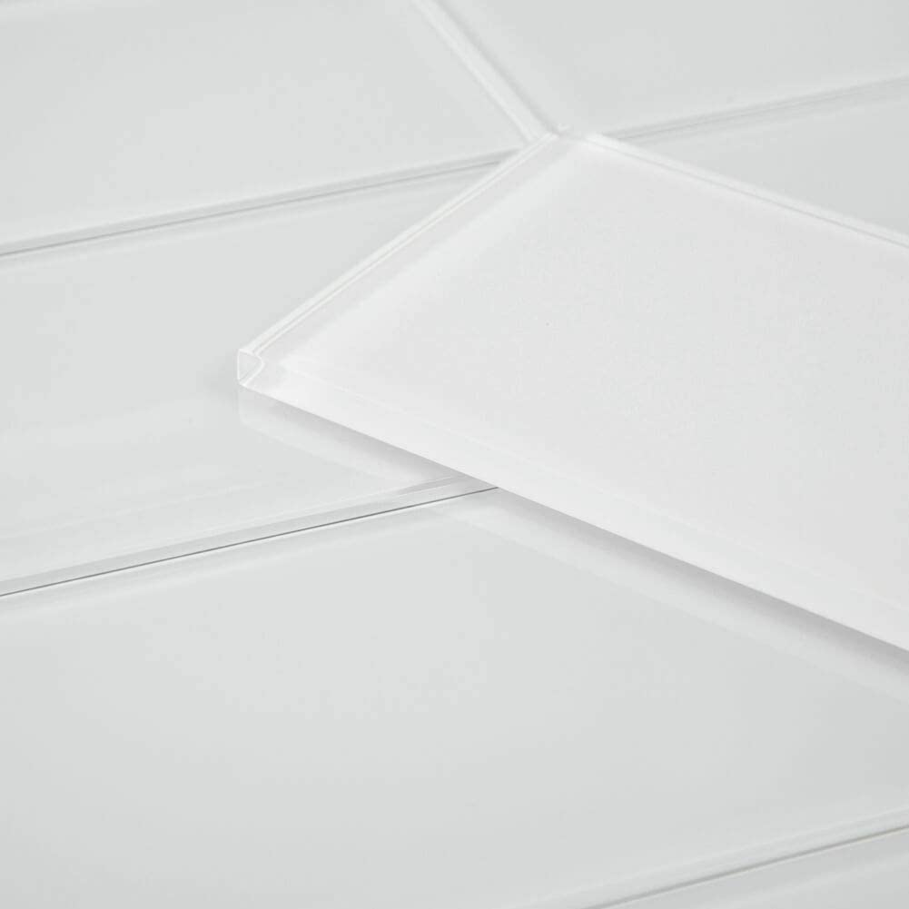 Diflart 4x12 Inch Bombing In stock new work Glass Subway Bath Kitchen Tiles for Backsplash