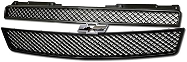 Velocity Racing Matte Black Finished Front Grille Luxury Mesh Style Hood Bumper Grill Abs 2007-2014 for Chevy Avalanche All Models | 2007-2014 Chevy Tahoe Models | 2007-2014 Chevy Suburban 1500/2500