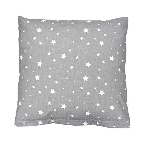 TupTam Kissenbezug Gemustert, Farbe: Sterne Grau, Größe: 50 x 50 cm