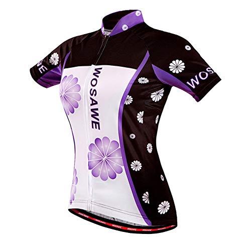LHY Jersey Bike, Jersey vélo avec Absorption de Sueur et de Protection Solaire, Détails réfléchissants - pour vélo, Courir, Travelling,L