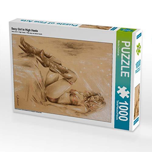 CALVENDO Puzzle Sexy Girl in High Heels 1000 Teile Lege-Größe 48 x 64 cm Foto-Puzzle Bild von Marita Zacharias