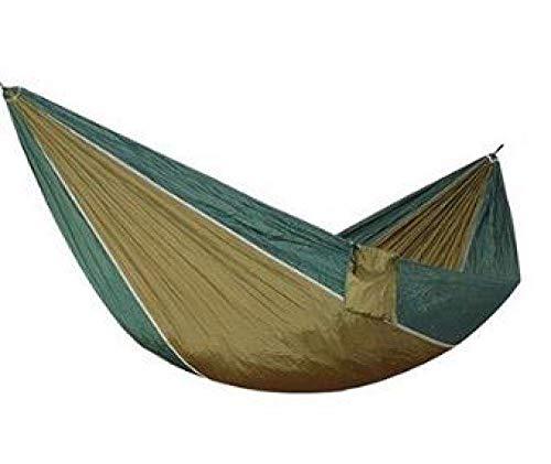 Camping hangmat Ultralight 1 persoons hangmat Portable Single Outdoor Camping Hamak wandelen klimmen Duurzaam Hamac Can Hold 200kg 230 * 90cm (Color : Khaki, Size : 230 * 90cm)