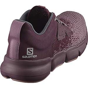 Salomon Women's Predict SOC W Running, Flint/Winetasting/Brick Dust, 7