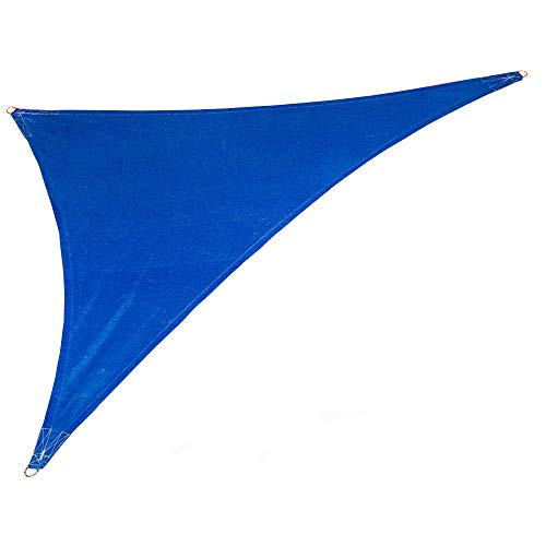 Coolaroo 473860 Coolhaven Shadesail, 15'x12'x9' Right Triangle, Sapphire