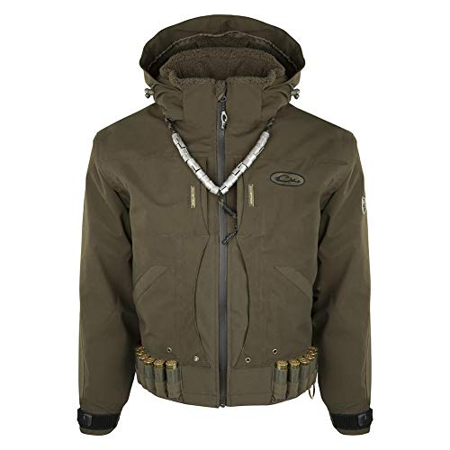 DRAKE Guardian Elite Flooded Timber Jacket, Shell Weight, Color: Green Timber, Size: X-Large (DW6010-GTB-4)